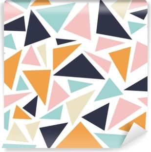 5efc4d65 Fototapet Sømløs geometrisk mønster fra trekanter av forskjellige ...