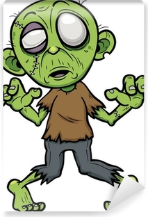 Fototapet av Vinyl Vektor illustration av Cartoon zombie