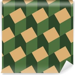 Fototapet av Vinyl Vektor illustration av en sömlös upprepande mönster av isometrisk hus