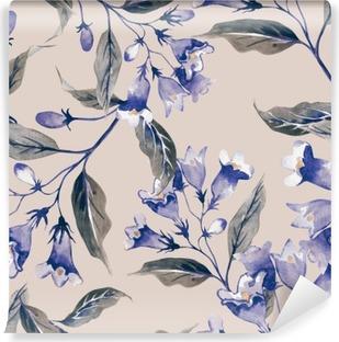 Fototapet av Vinyl Weigelas Flower sömlösa mönster
