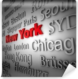 Fototapet av Vinyl Weltstadt2 New York