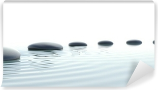 Fototapet av Vinyl Zen väg stenar i widescreen