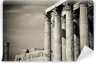 Fototapet av Vinyl Zeustemplet och Akropolis, Aten