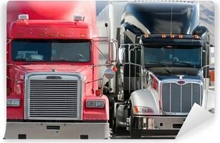 Fototapeta winylowa 2 ciężarówka flota dwie ciężarówki