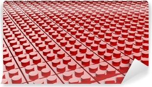 Vinylová Fototapeta 3D červené pozadí z lego bloků