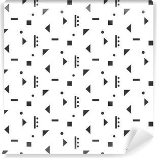 Vinylová Fototapeta Abstraktní geometrické tvary bílá bezproblémové vzor. Klasická geometrie inspirovaný bezproblémové šedou barvou na bílém podkladu.