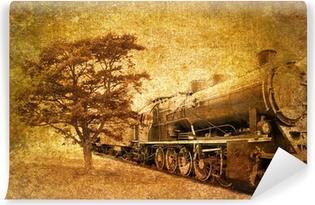 Vinylová Fototapeta Abstraktní vintage foto z parního vlaku