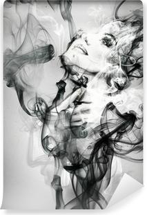 Vinylová Fototapeta Abstraktní žena portrét. akvarel ilustrace