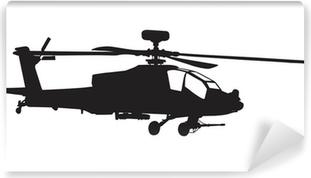 Vinylová Fototapeta AH-64 Apache Longbow vrtulník silueta
