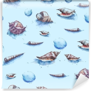 Fototapeta Akvarel tvořivý velryb seamless vzor. ručně malované ... e10d7e4ea3