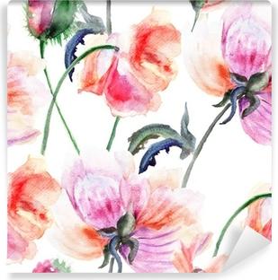 Vinylová Fototapeta Akvarel ilustrace stylizované pivoňka květ
