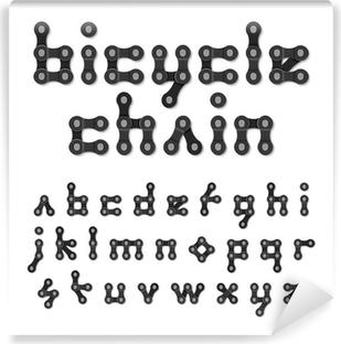 Fototapeta winylowa Alfabet łańcuch rowerowy