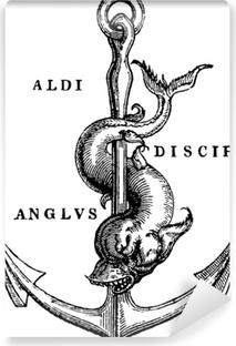 Fototapeta winylowa Antyczne ilustracja kotwica morska