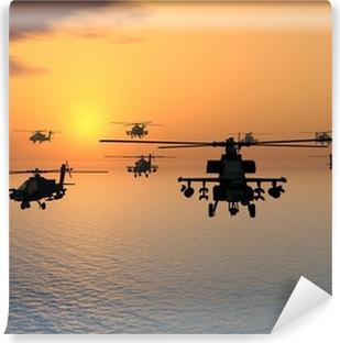 Vinylová Fototapeta Apache Helicopter