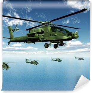 Vinylová Fototapeta Apache helikopter