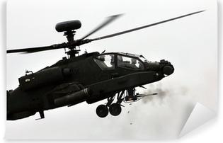 Vinylová Fototapeta Apache vrtulník střelba pistole