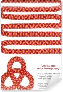 Vinylová fototapeta Textura vektor pozadí s horolezecké lano. od1 099 Kč.  Vinylová fototapeta Barevné rám s lano d1edde753d1