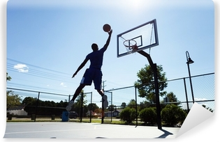 Vinylová fototapeta Basketbalový hráč silueta