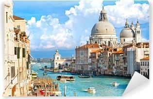 Vinylová Fototapeta Benátky, pohled na Canal Grande a baziliky Santa Maria jako známé
