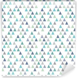 Vinylová Fototapeta Bezešvé bokové geometrický vzor trojúhelníků Aqua Blue