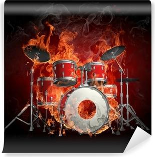 Vinylová Fototapeta Bicí v ohni