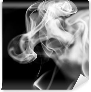 Vinylová Fototapeta Bílý kouř na černém pozadí