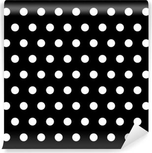 Vinylová Fototapeta Black and White Dots pozadí