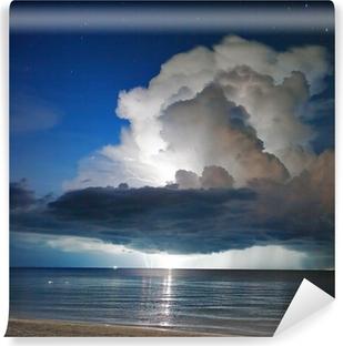 Vinylová Fototapeta Blesky nad mořem. Thajsko