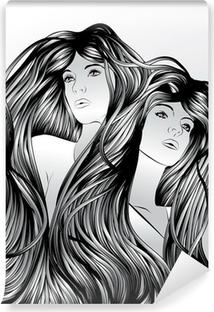 Fototapeta winylowa Bliźniacy z blokującego włosy