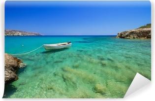 Fototapeta winylowa Blue lagoon z Vai plaży na Krecie, Grecja