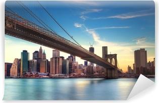 Vinylová Fototapeta Bridge Brooklyn v. Manhattanu v New Yorku.