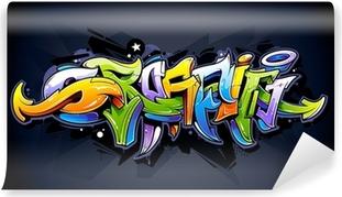Vinylová Fototapeta Bright graffiti nápisy