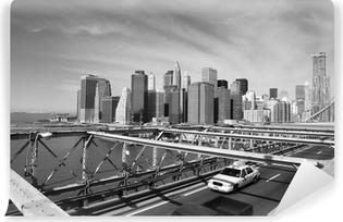 Vinylová Fototapeta Brooklyn Bridge Taxi, New York
