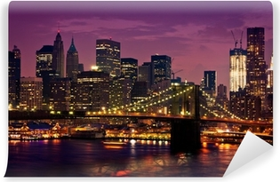 Vinylová Fototapeta Brooklyn Bridge v New Yorku