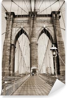 Vinylová Fototapeta Brooklyn bridge
