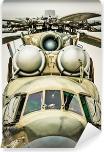 Vinylová Fototapeta Čelní pohled na ruského vojenského vrtulníku.