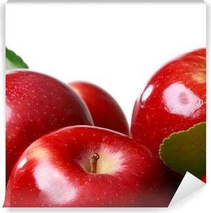 Vinylová Fototapeta Čerstvá jablka na bílém pozadí