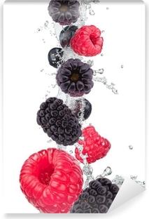 Vinylová Fototapeta Čerstvé ovoce ve vodě stříkající