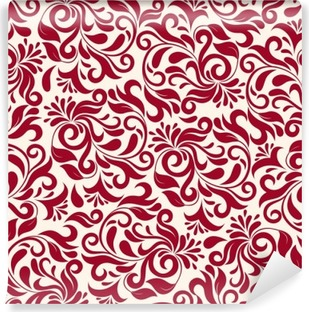 Vinylová Fototapeta Červené damaškové vzorek