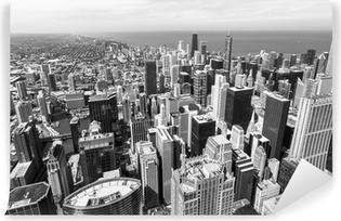 Vinylová fototapeta Chicago skyline letecký pohled