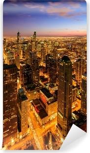 Vinylová Fototapeta Chicago světla