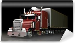 Fototapeta winylowa Ciężarówka w nocy