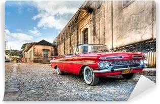 Fototapeta winylowa Czerwony Chevrolet