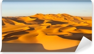 Vinylová Fototapeta Desert Panorama - písečné duny - Murzuq Desert, Sahara, Libye