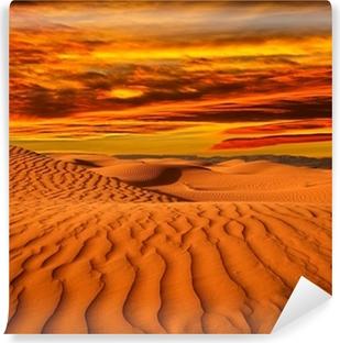 Vinylová Fototapeta Desert severní Afriky, písečné barkhans