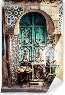 Vinylová Fototapeta Detail krásné dlaždice mozaikové výzdoby, Fez, Maroko