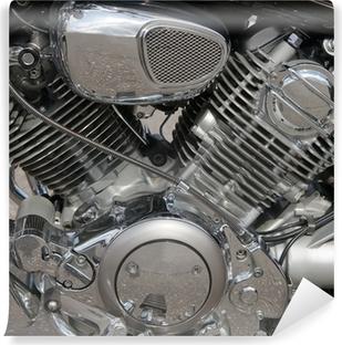 Vinylová Fototapeta Detailní motocykl motor
