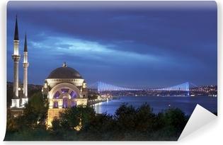 Vinylová Fototapeta Dolmabahçe mešity a Bospor most - Istanbul