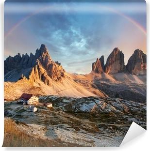Vinylová fototapeta Dolomity hora v Itálii při západu slunce - Tre Cime di  Lavaredo b2adc5e6e21