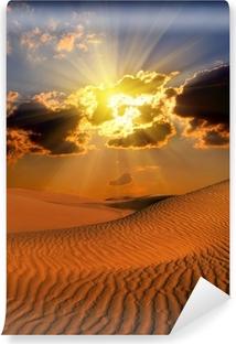 Vinylová Fototapeta Dramatický suset krajiny v poušti